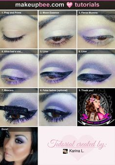 Smokey Purple #Tutorial on @Makeupbee