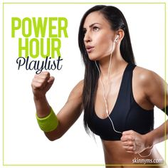 The Power Hour Playlist!  Get one full hour of awesome workout tunes to motivate you.  #inspire #motivate #music