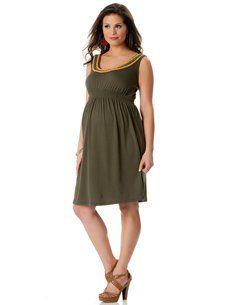 Motherhood Maternity: Sleeveless Beaded Detail Maternity Dress
