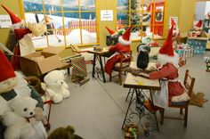 images of santas workshop north pole - Google Search