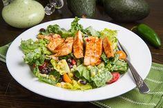 BBQ Chicken Salad with Creamy Avocado Dressing