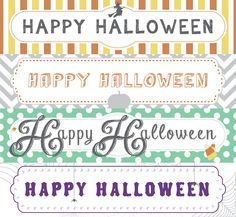 FREE Halloween Treat Bag Topper Printables