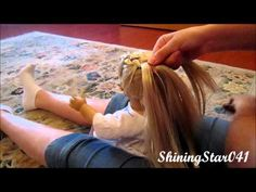 How to do the Katniss braid on your American Girl doll! - YouTube