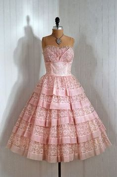 Dress party dresses, bridesmaid dresses, vintage pink, vintage prom, pink weddings, vintage party, cocktail dresses, lace dresses, parti