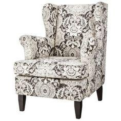 Edbury Upholstered Wingback Chair - Gray/White