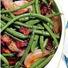 Skillet Green Beans   MyRecipes.com