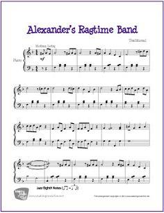 Alexander's Ragtime Band | Free Sheet Music for Piano | MakingMusicFun.net