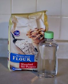 A new sensory activity to try...flour and baby oil...consistency of moon dough