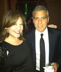 Roula with a very handsome George Clooney