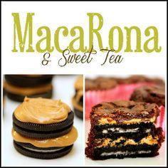 MacaRona and Sweet Tea: Oreo Peanut Butter Brownie Bites