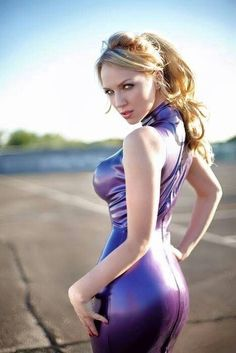 Purple latex dress love it!!!