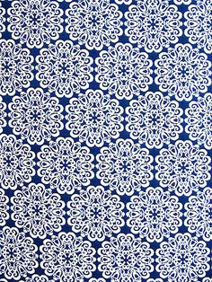 STENCIL SAPPHIRE Yard of Fabric