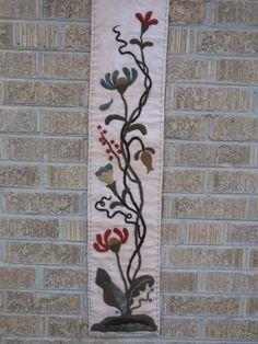 wind vine, wool stitcheri, vine wander, wool appliqu, maggi bonanomi, flower runner, may flowers