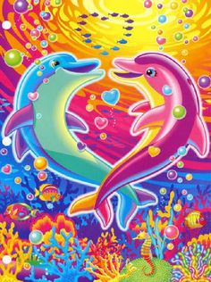 dolphins by Lisa Frank