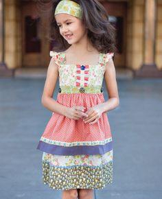 Matilda Jane Clothing - Lucky Stars Knot Dress
