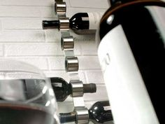 Cool small space wine rack.......