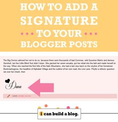 Add a Signature to Your Posts in Blogger – How to Build a Blog