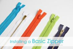 How To: Installing a basic ZIPPER sew ins, craft, sewing tips, basic zipper, sewing in a zipper, zipper tutori, zipper foot, zippers, sewing tutorials