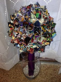 Comic Book Wedding bouquet on Etsy, $250.00