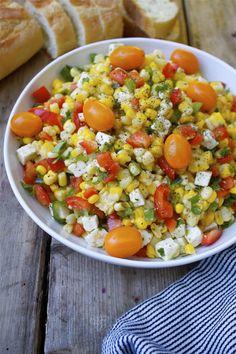 summer corn  feta salad