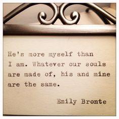 Emily Bronte Framed Love Quote Made On Typewriter | Farm n Flea {Etsy}
