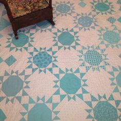 This pattern is from designer Pat Wys and was done by her for her first grandson due in May. Beautiful !