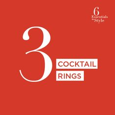 Cocktail rings: Despite their name, these are great anytime, not just for parties. Their unexpected style is actually easy to pull off - and fun, too.