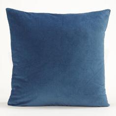 Blue Velvet Throw Pillow | World Market