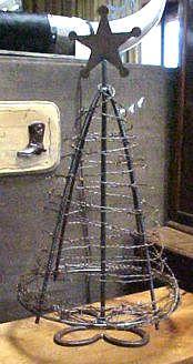 Barbwire Tabletop Christmas Tree $99.00
