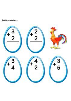 Math Worksheets, Kindergarten Worksheets, Addition Worksheets