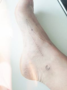 Andromeda and a crescent moon stick and poke  snp / hand made tattoo