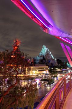 Tomorrowland at night.
