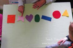 Shape Games on the Felt Board by Teach Preschool preschool shape, felt board