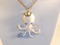 Fashion necklace beautiful White cute Octopus long gold necklace $15.00 #jewelry #womensfashion #popular #designs #gifts #popular #betseystyle #freeshipping