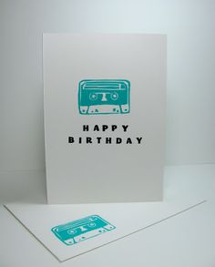 We absolutely love this retro cassette tape by Allison Okamitsu