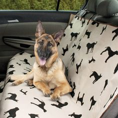 .:* L - Etna Products - Waterproof Car Seat Cover; backseats for dogs with dog pattern on it.  now featured on Fab.