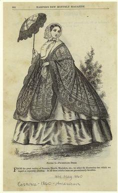 Promenade dress. 1860 Harper's Magazine