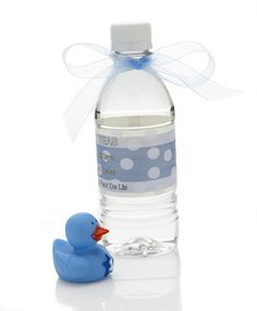 Print a label and cover for a baby shower idea....alternative to making punch!