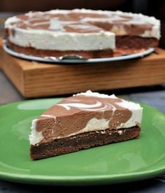 Brownie Cheesecake. So easy~ just add cream cheese sugar vanilla and an egg to a box of brownie mix..