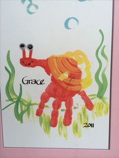 Handprint snail craft for kids  #preschool #kidscraft #snail