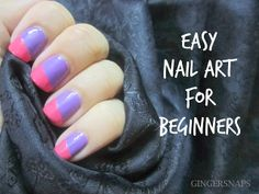 DIY: Easy Nail Art For Beginners Using Scotch Tape