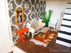 Dollhouse Living Room {Sawdust and Embryos}