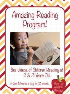 Amazing Reading Program Review: Children Reading at 2 Years-Old