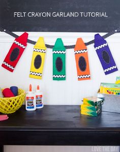 Felt Crayon Garland Tutorial by Love The Day #michaelsmakers