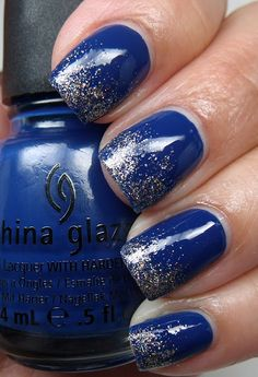 love this glitter gradient with China Glaze