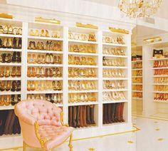 This FAB shoe closet belongs to..... Mariah Carey!