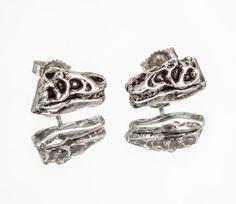 TYRANNOSAURUS FLATS  Dinosaur TREX Stud Earrings / by snashjewelry, $44.00