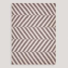 Gray Avira Flat-Woven Wool Rug