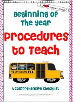 **This is a TOP Seller of the WEEK!!!***  Classroom Procedures to Teach