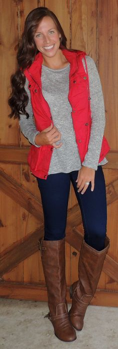 Red Military Vest – Monica's Closet Essentials